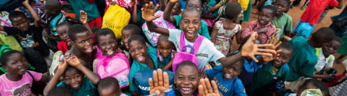 Recipients of Mary's Meals support.