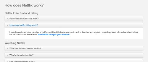 Netflix FAQ