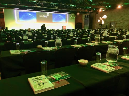 The first time we provided our book to a conference (SearchLove)
