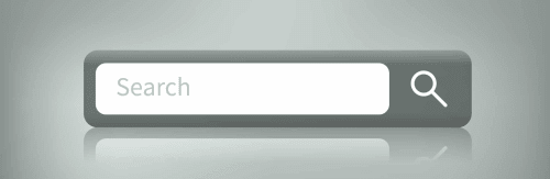 A site search box.