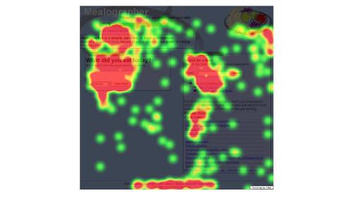A screenshot of an eye-tracking report.