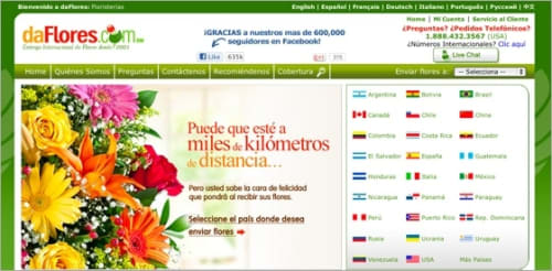 daFlores homepage.