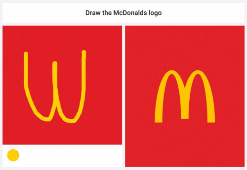 An attempt to draw the McDonald's logo