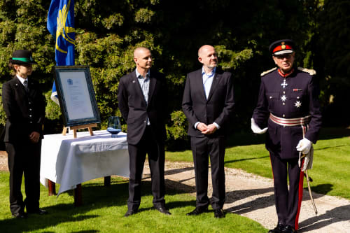 The presentation of the Queen's Award for International Trade