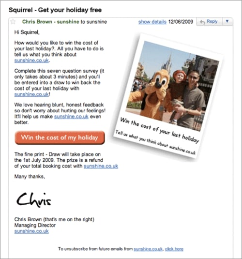 sunshine Email