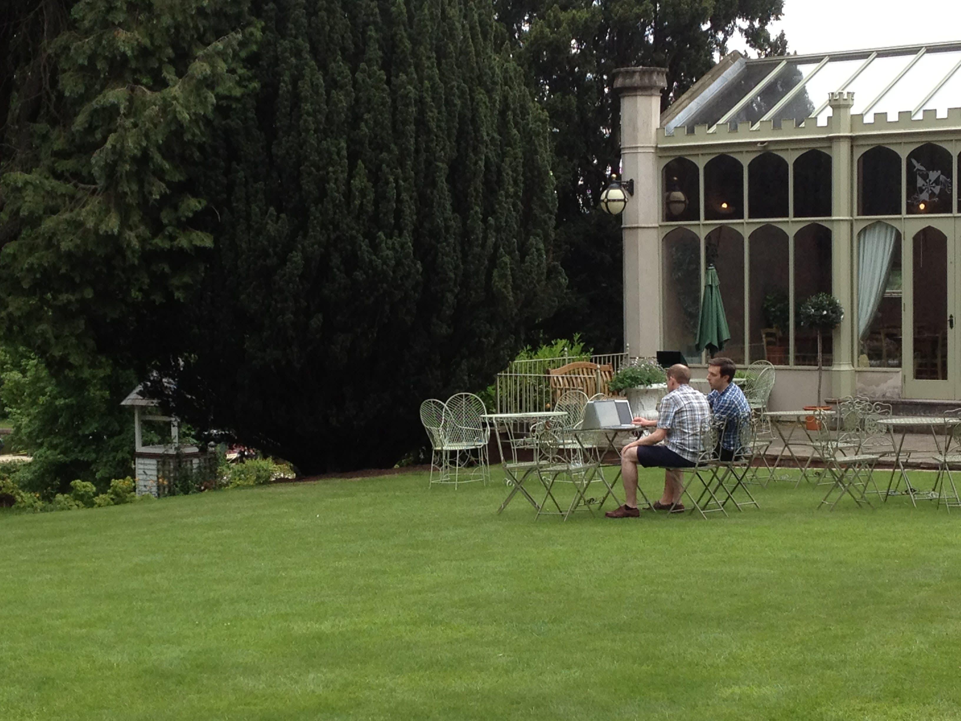 The garden and orangerie
