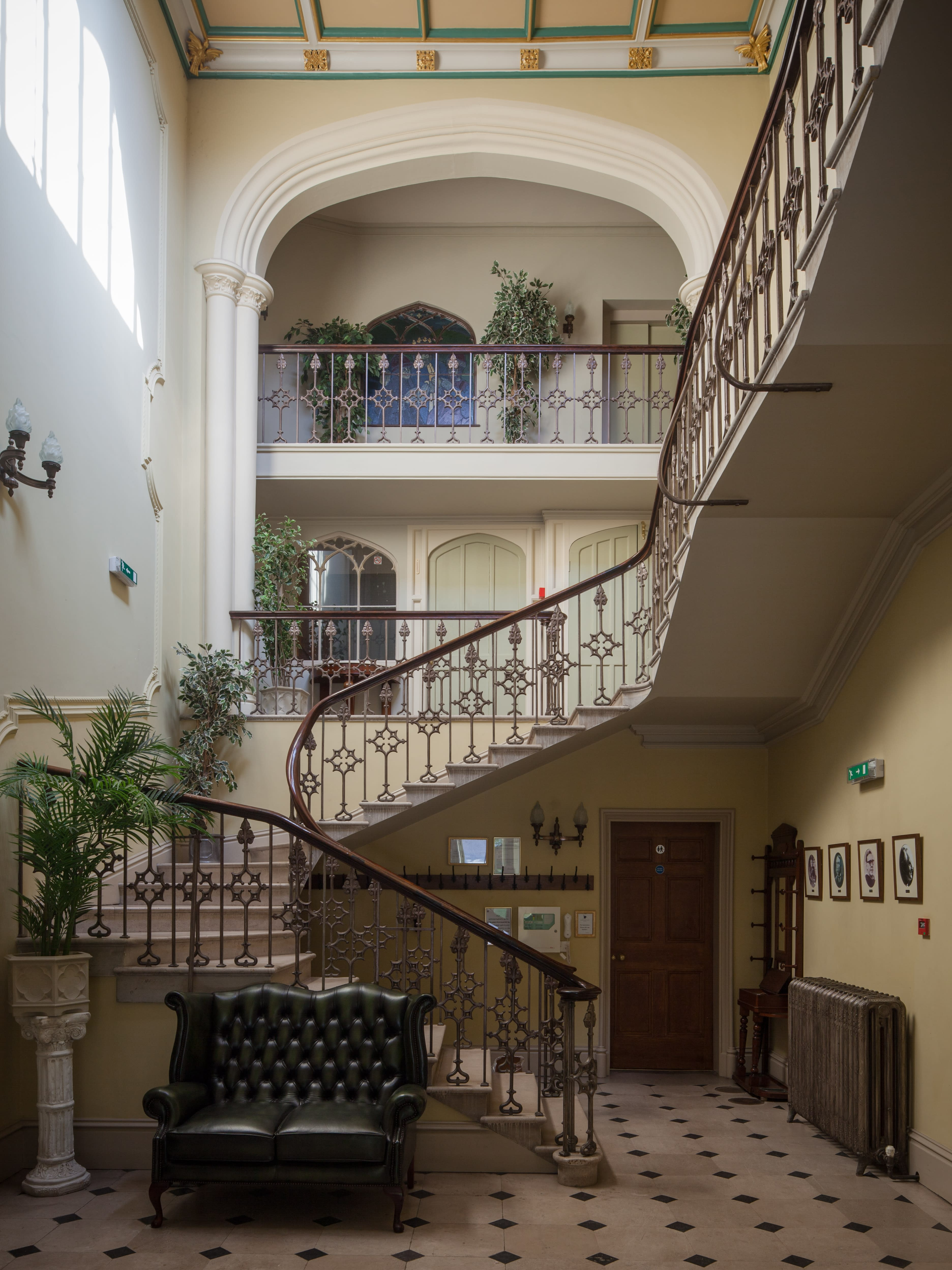The Gothic staircase