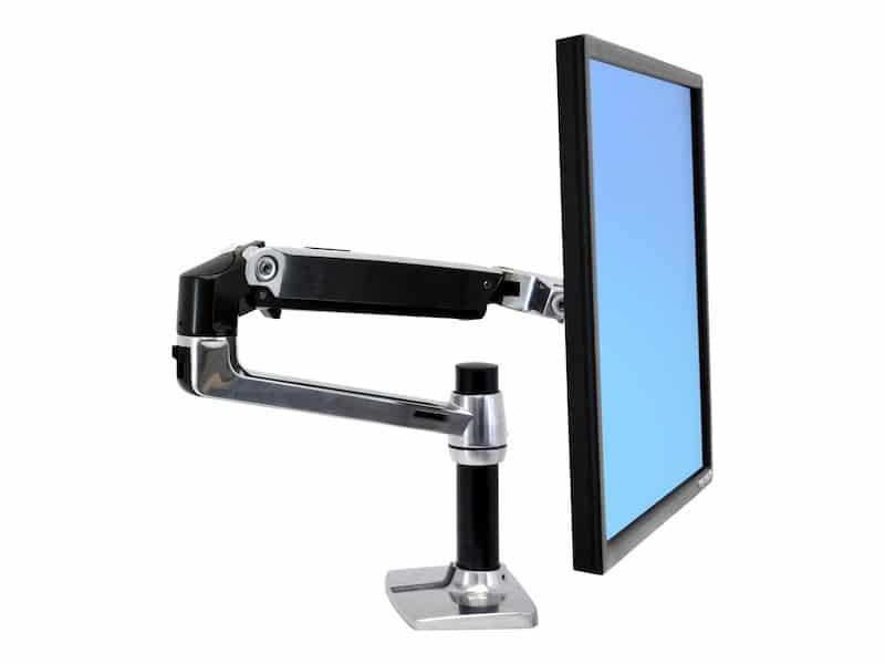 An Ergotron LX Desk Monitor Arm