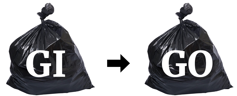 Garbage in, garbage out (GIGO)