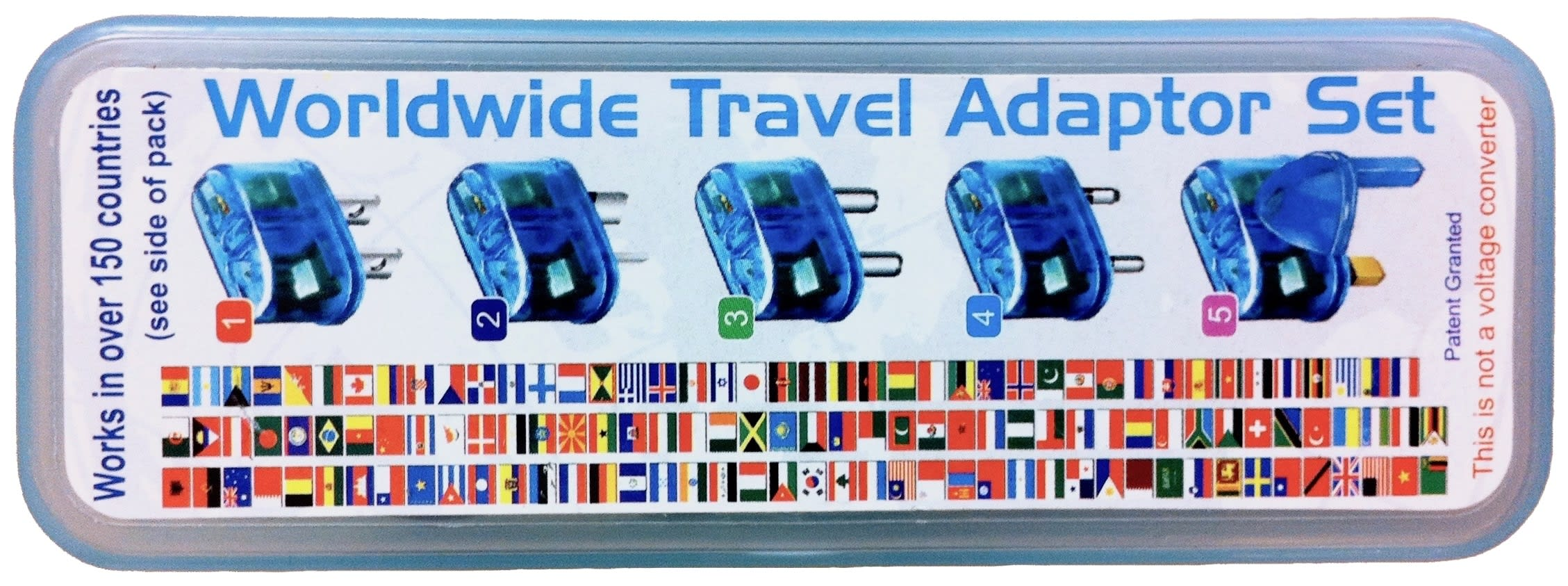 Lid of travel adapters