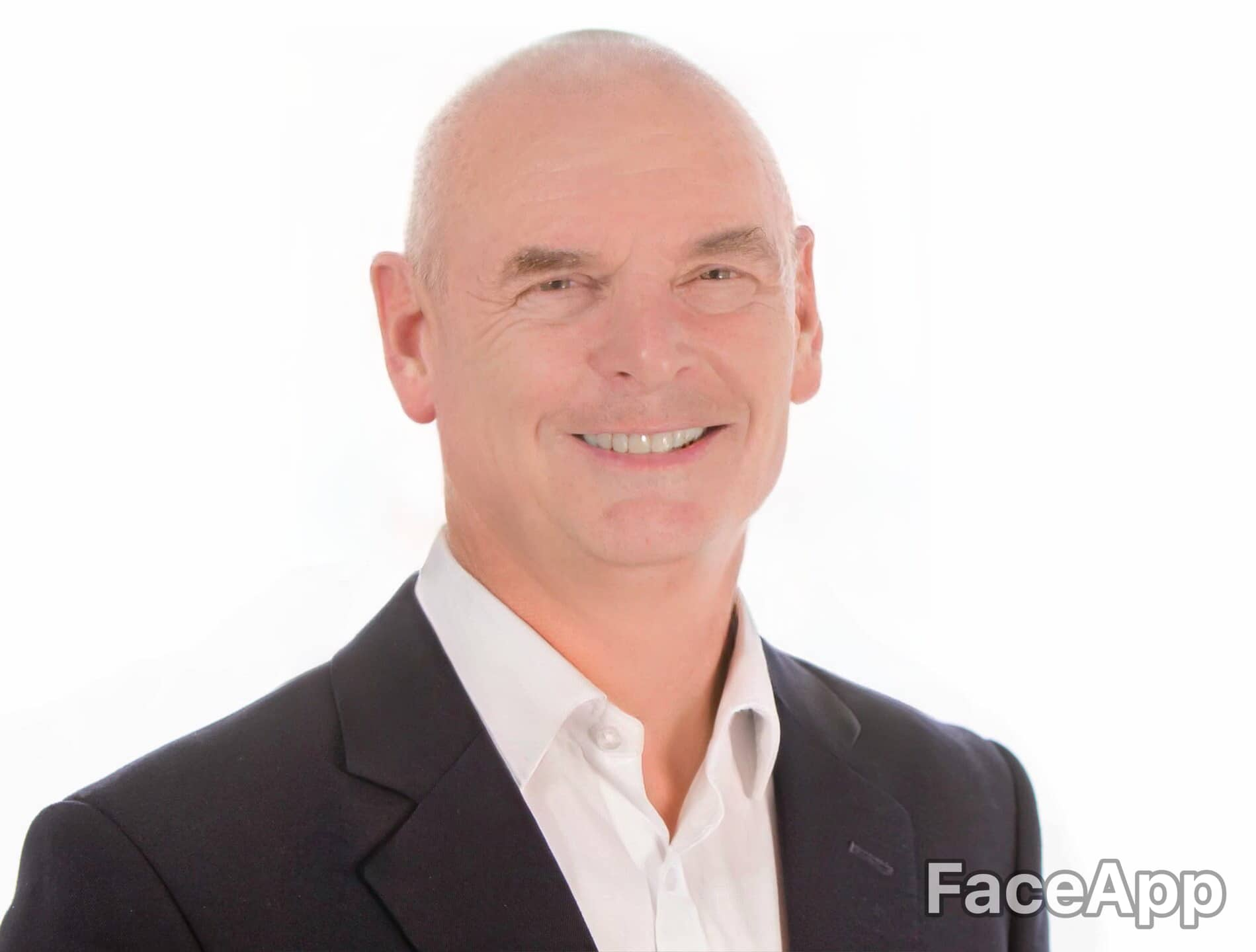 Ben Jesson's face artificially aged