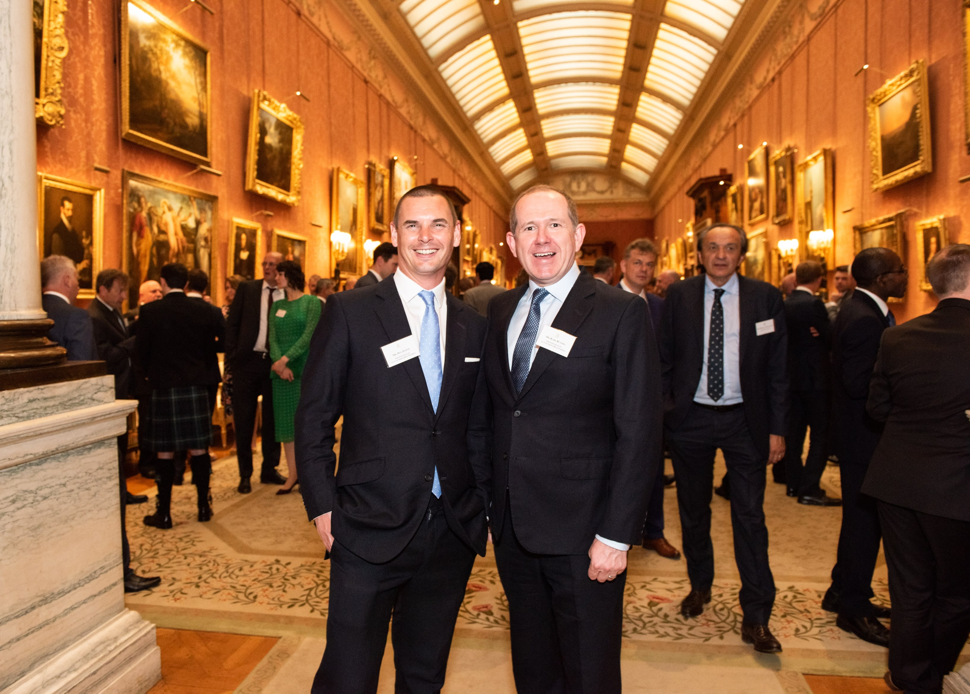 Our founders Karl and Ben in Buckingham Palace.