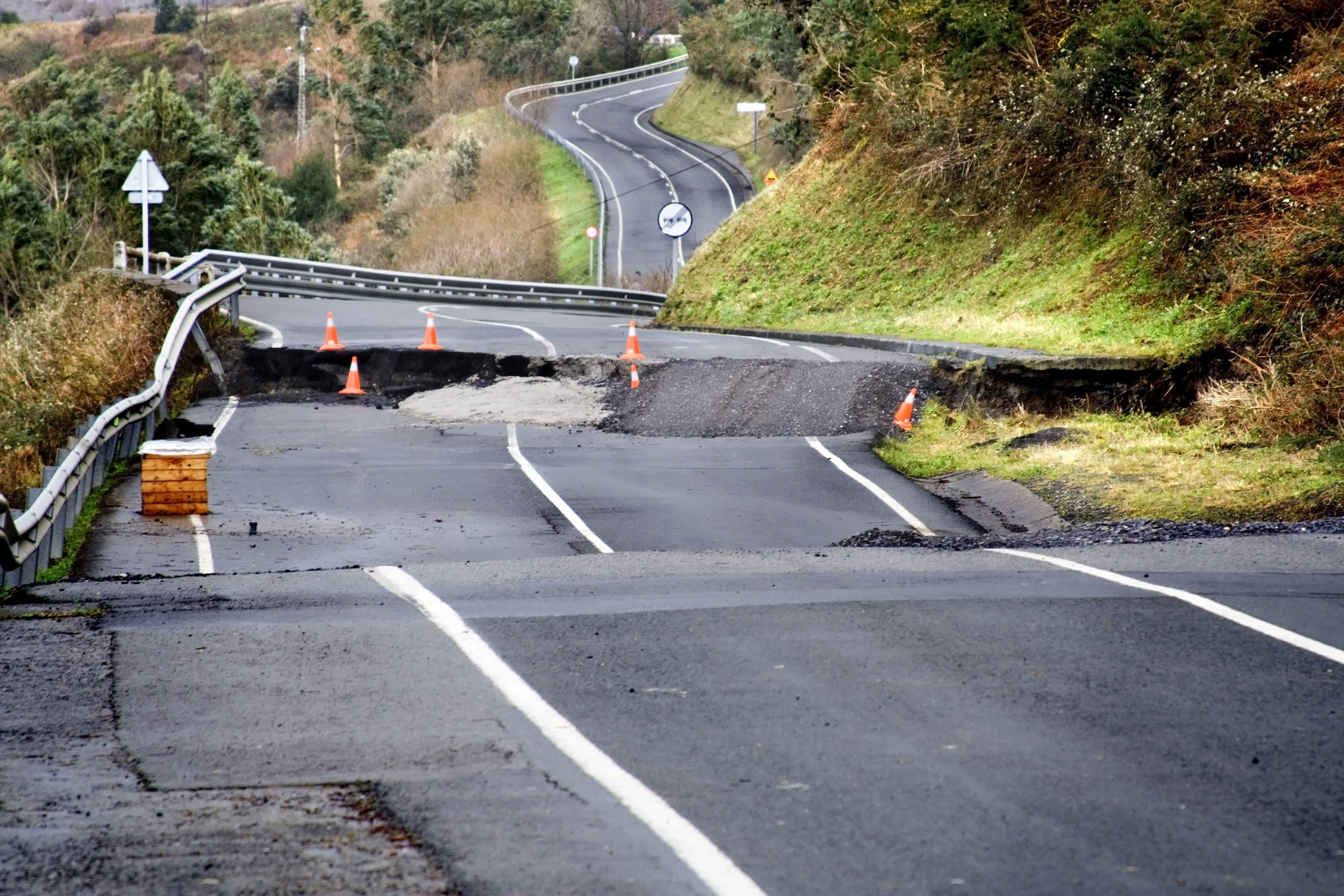 A road block ahead.