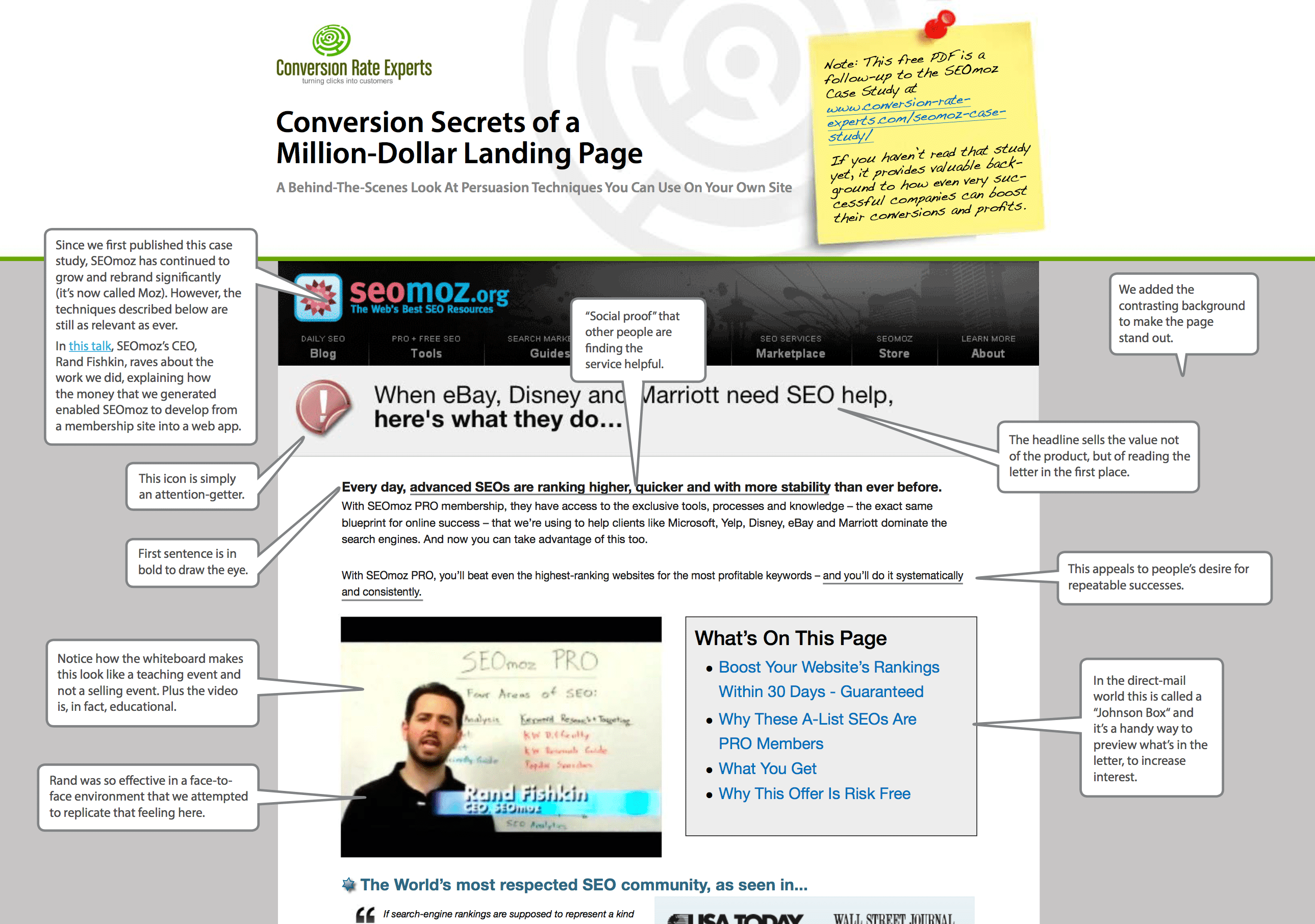 This is an excerpt from our PDF, Conversion Secrets of a Million-Dollar Landing Page