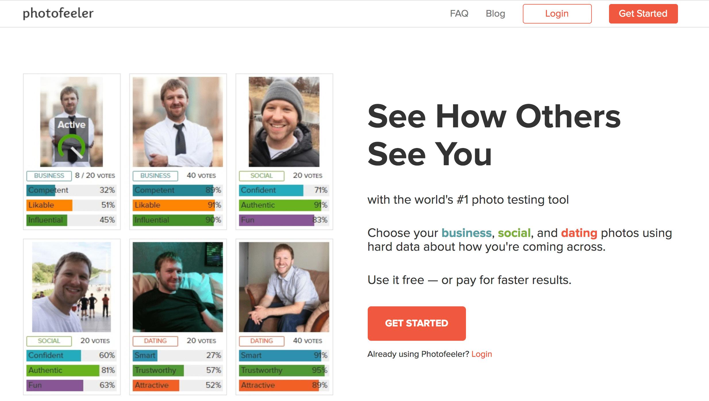 A screenshot of Photofeeder's homepage.