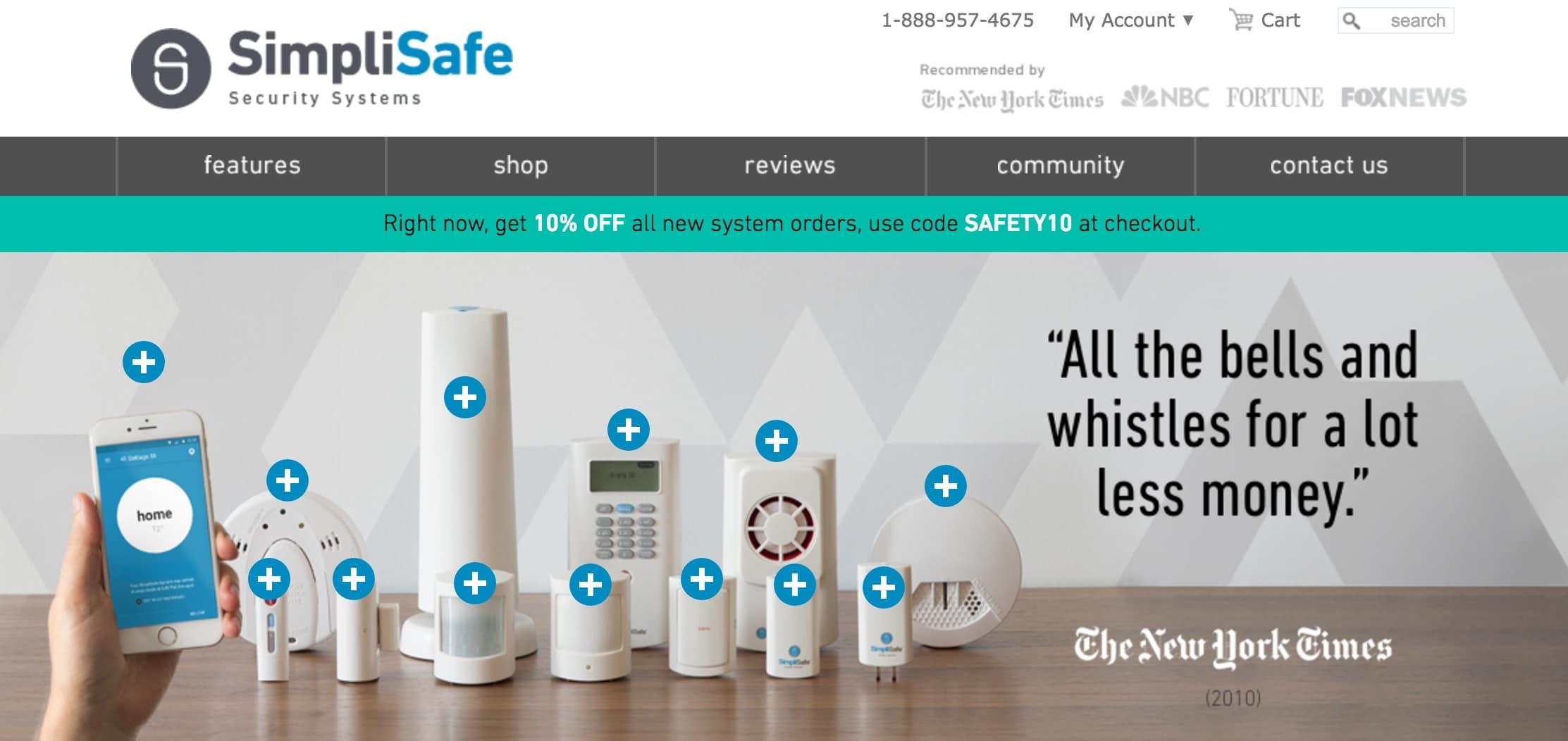 """SimpliSafe's """"+"""" signs"""