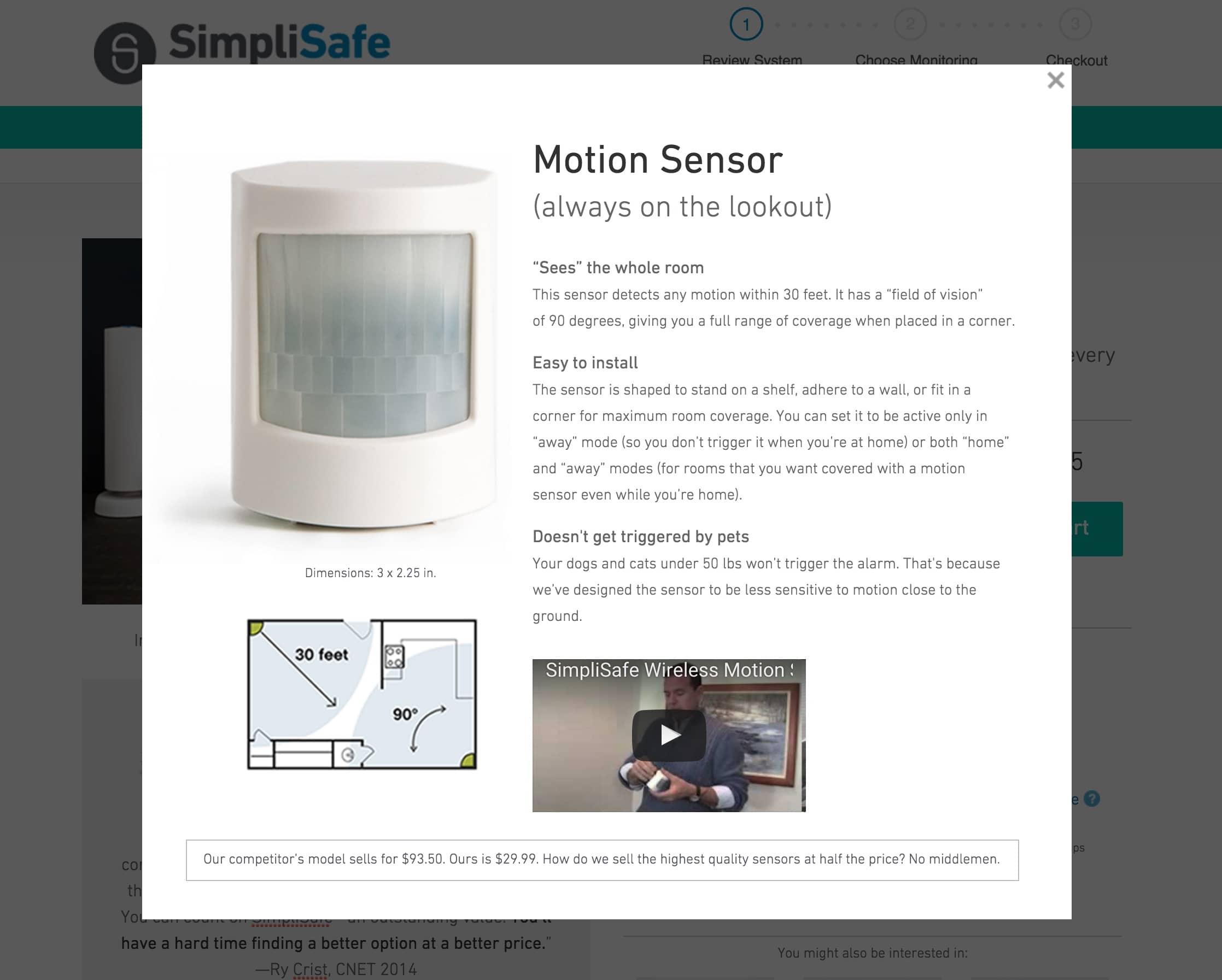 SimpliSafe's motion sensor