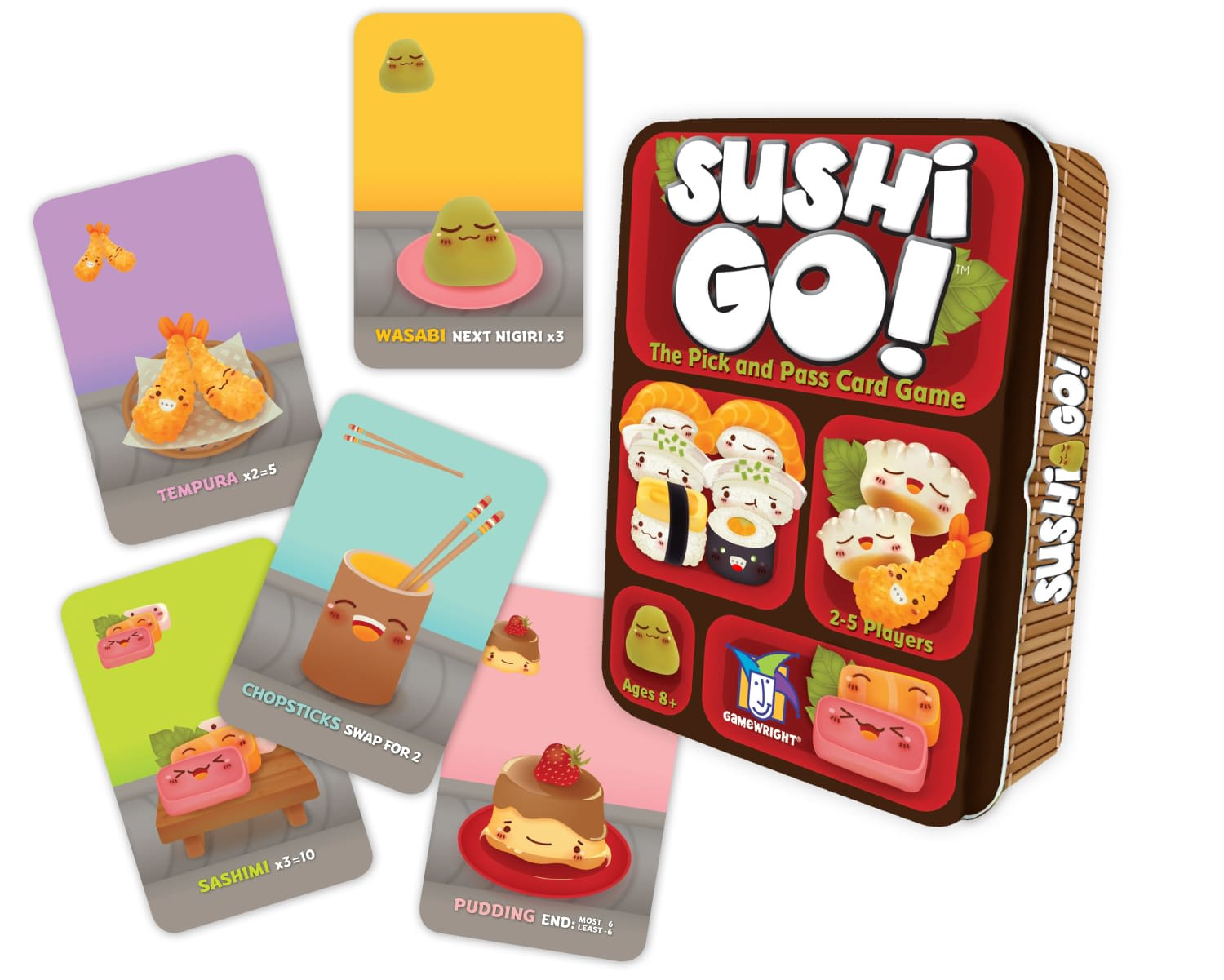 The Sushi Go! box and some of the cards.