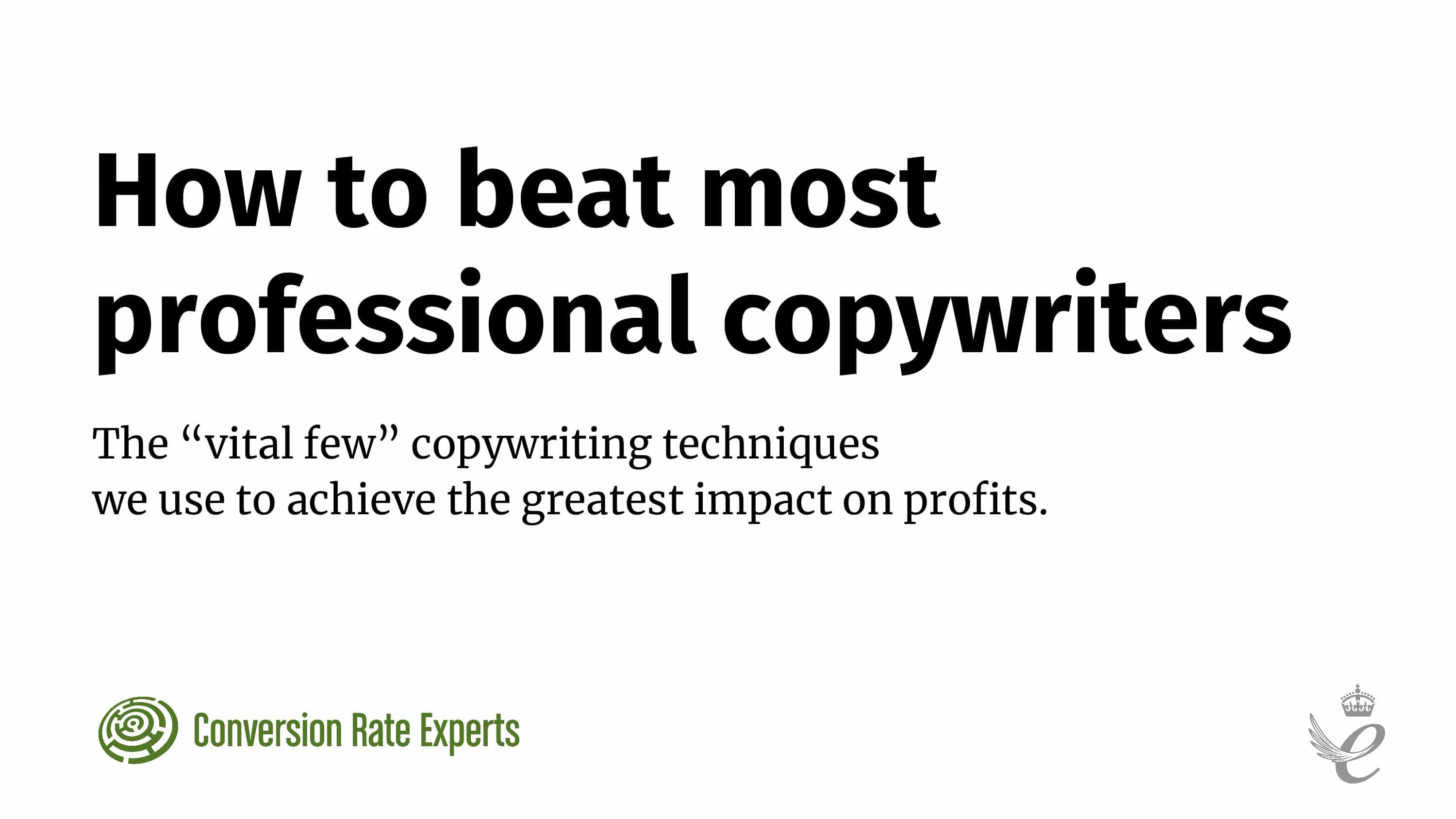 How to beat most professional copywriters talk