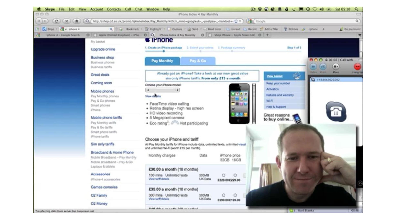 A screenshot of us using a website.