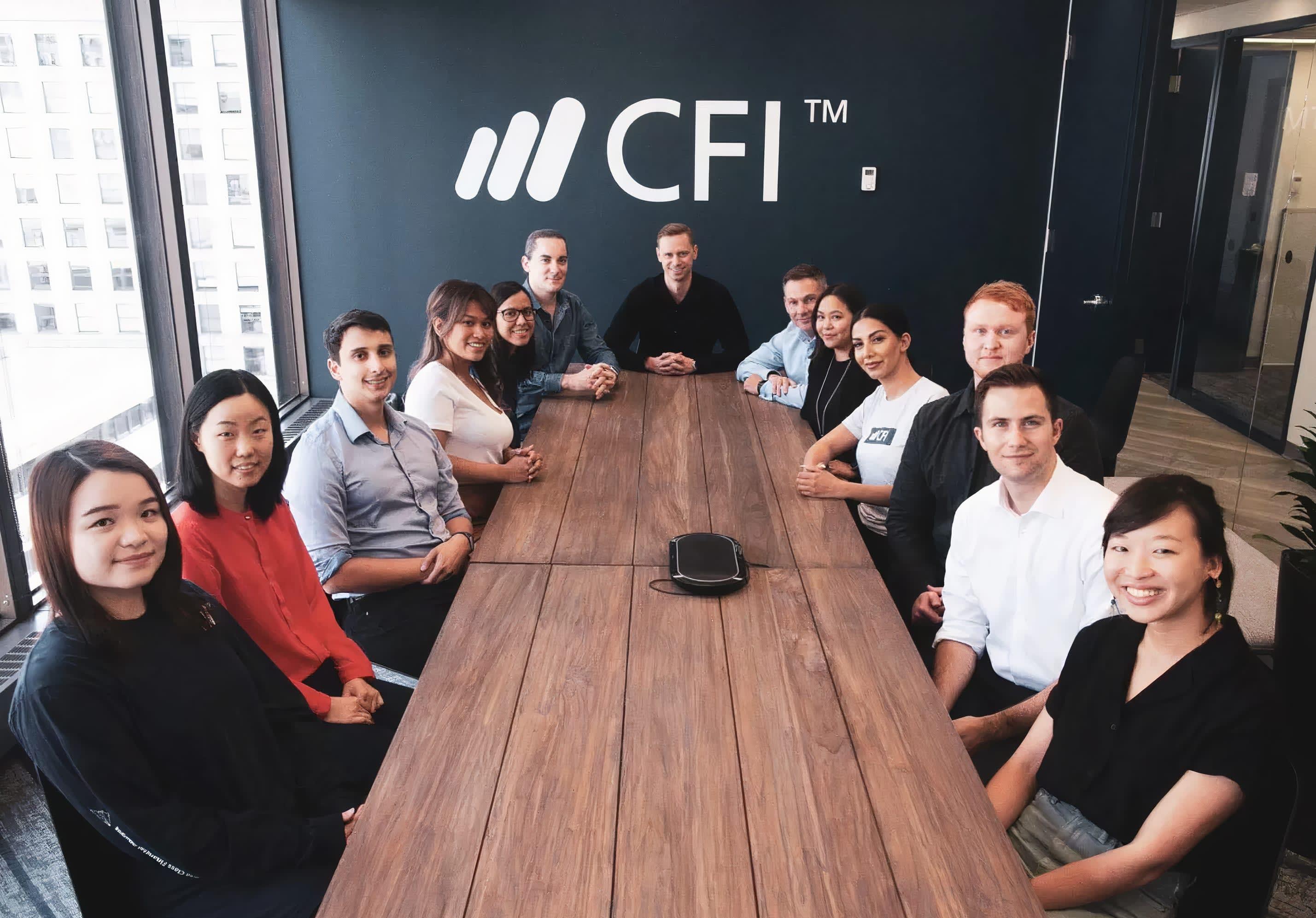 The Corporate Finance Institute (CFI) team in the boardroom