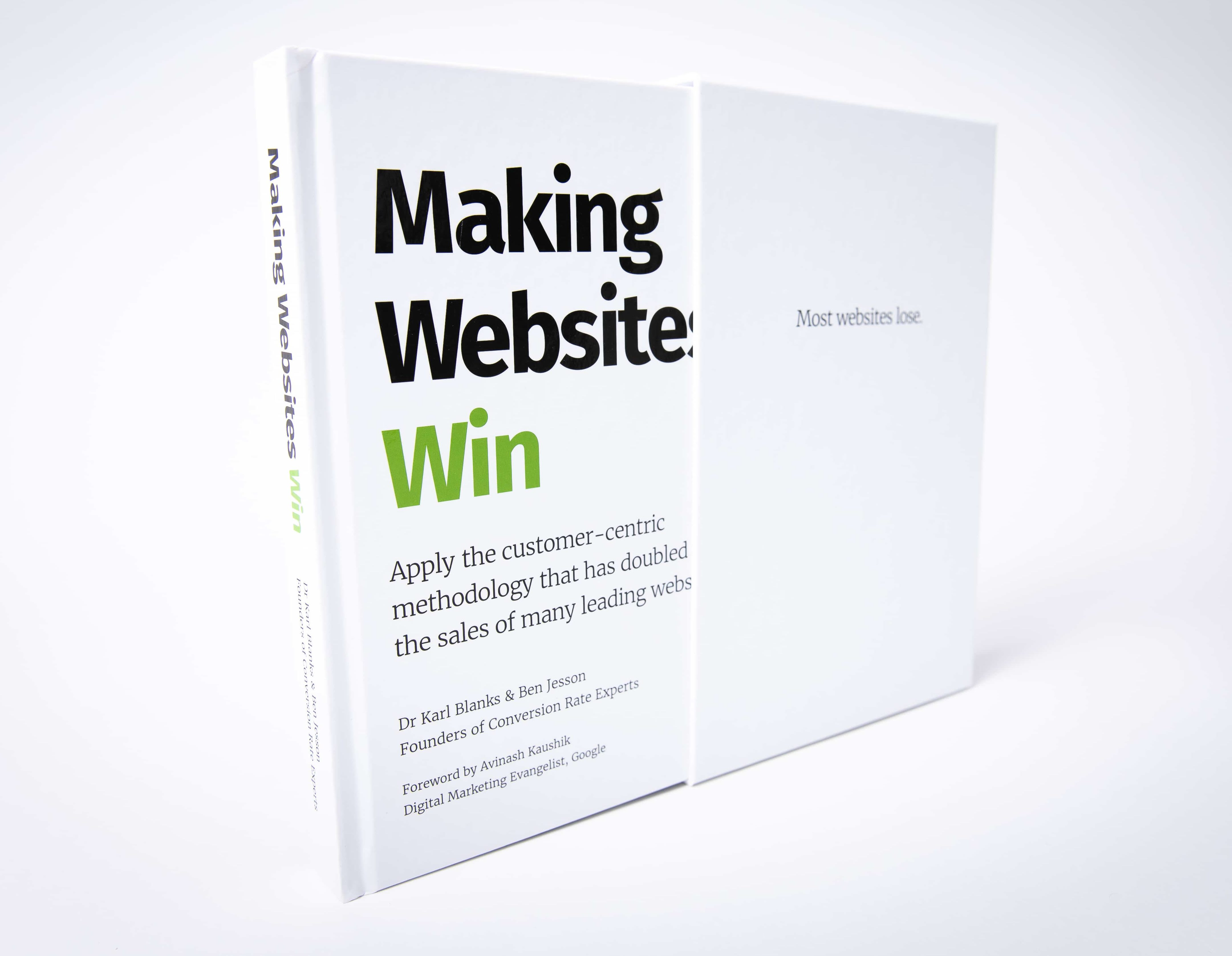 A photo of our book, Making Websites Win