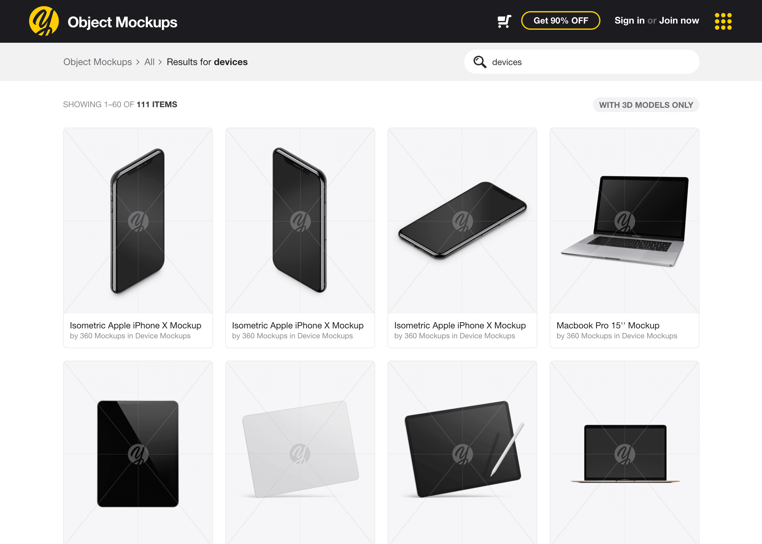 Object Mockups by Yellow Images
