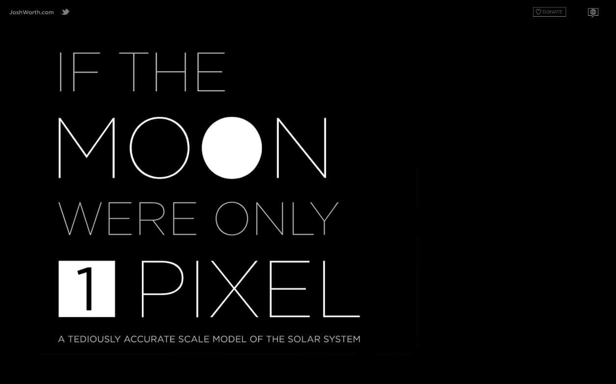 "Screenshot of ""If The Moon Were Only One Pixel"""