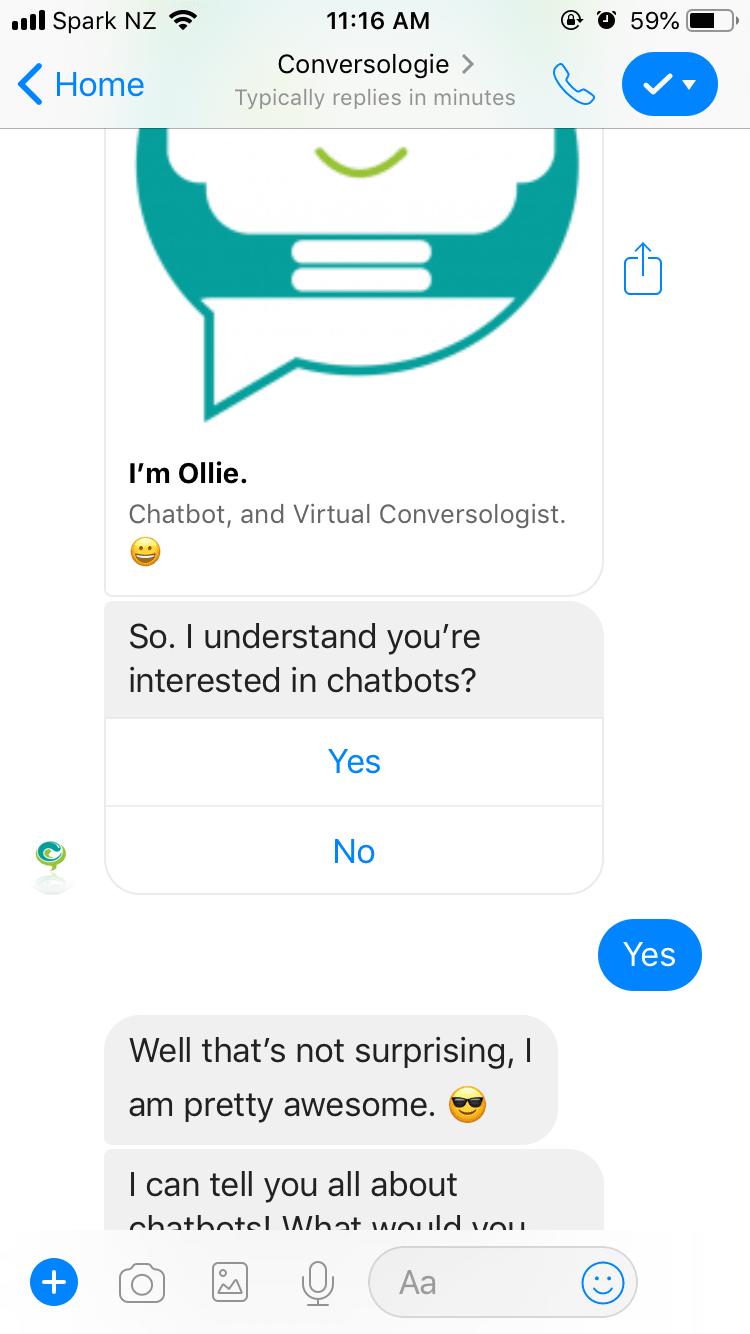 screenshot ollie chats messenger