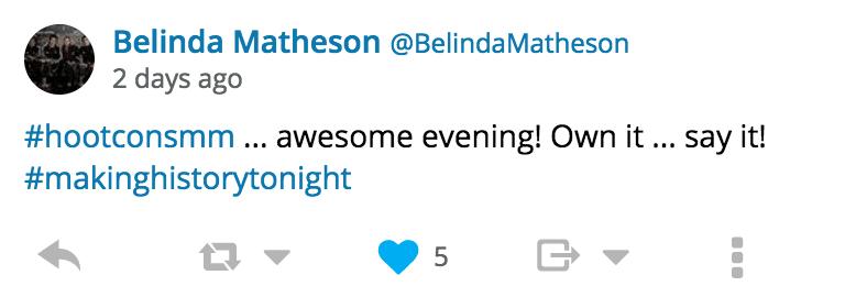 Hootsuite Conversologie Tweet Attendee
