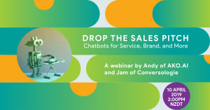 Conversologie - Drop the Sales Pitch Chatbot Webinar Header