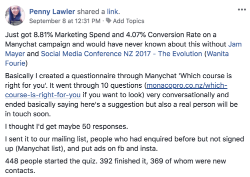 Social Chatbot Marketing Penny Lawler