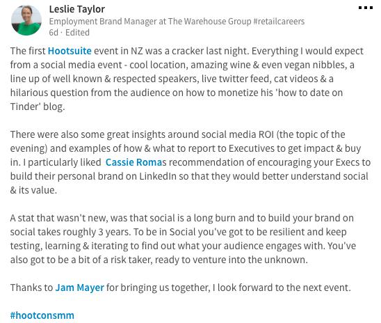 Leslie Taylor Hootsuite Conversologie Meetup