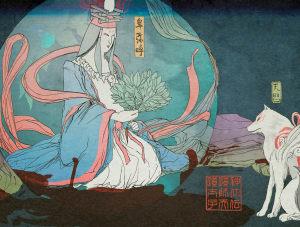 Amaterasu and Himiko - Okami,  ©