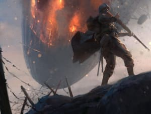 Airship on Fire - Battlefield 1, DICE ©