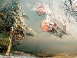 Flying past Kite City - Guild Wars 2, ArenaNet ©
