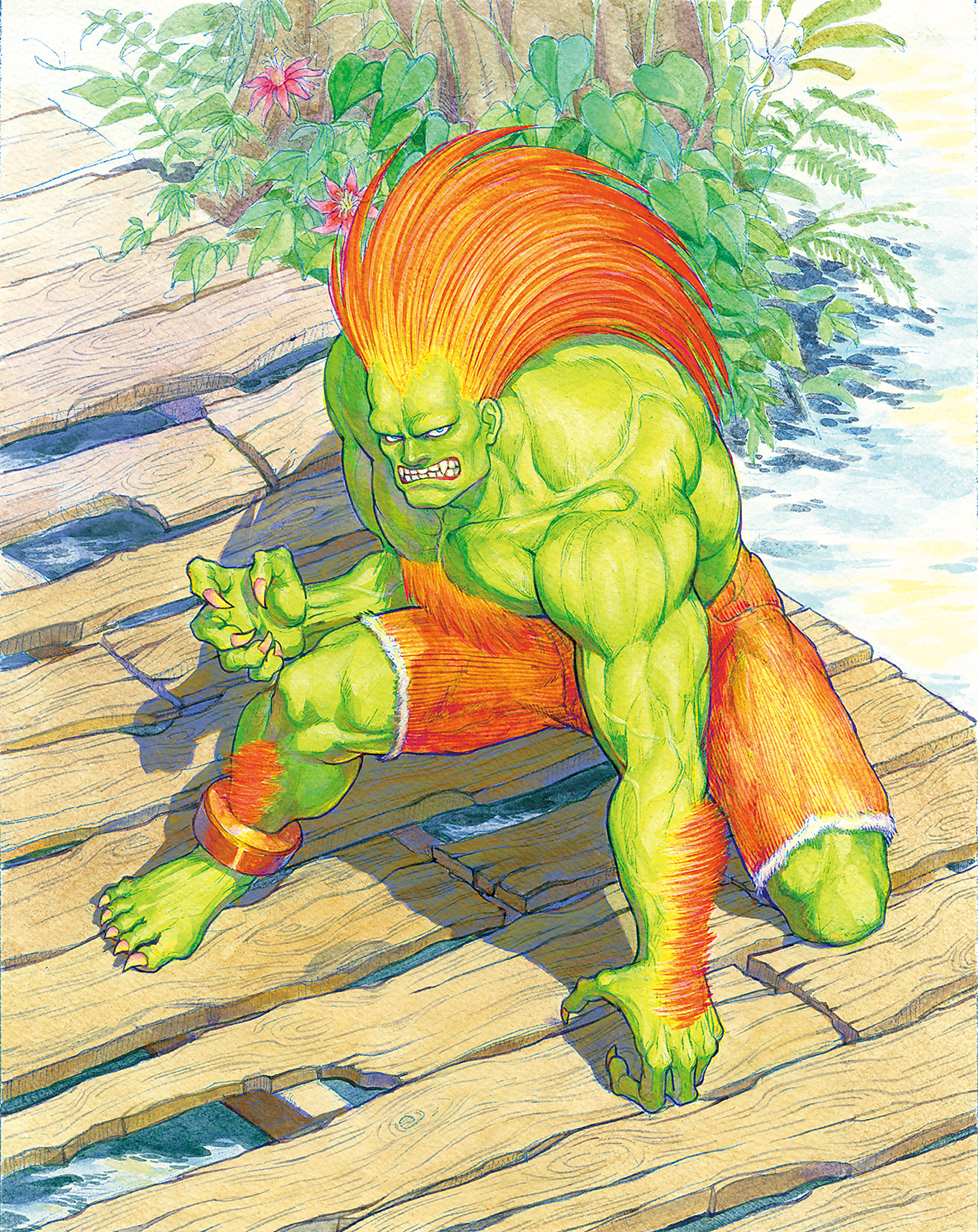 Artwork Blanka | Street Fighter II | Capcom