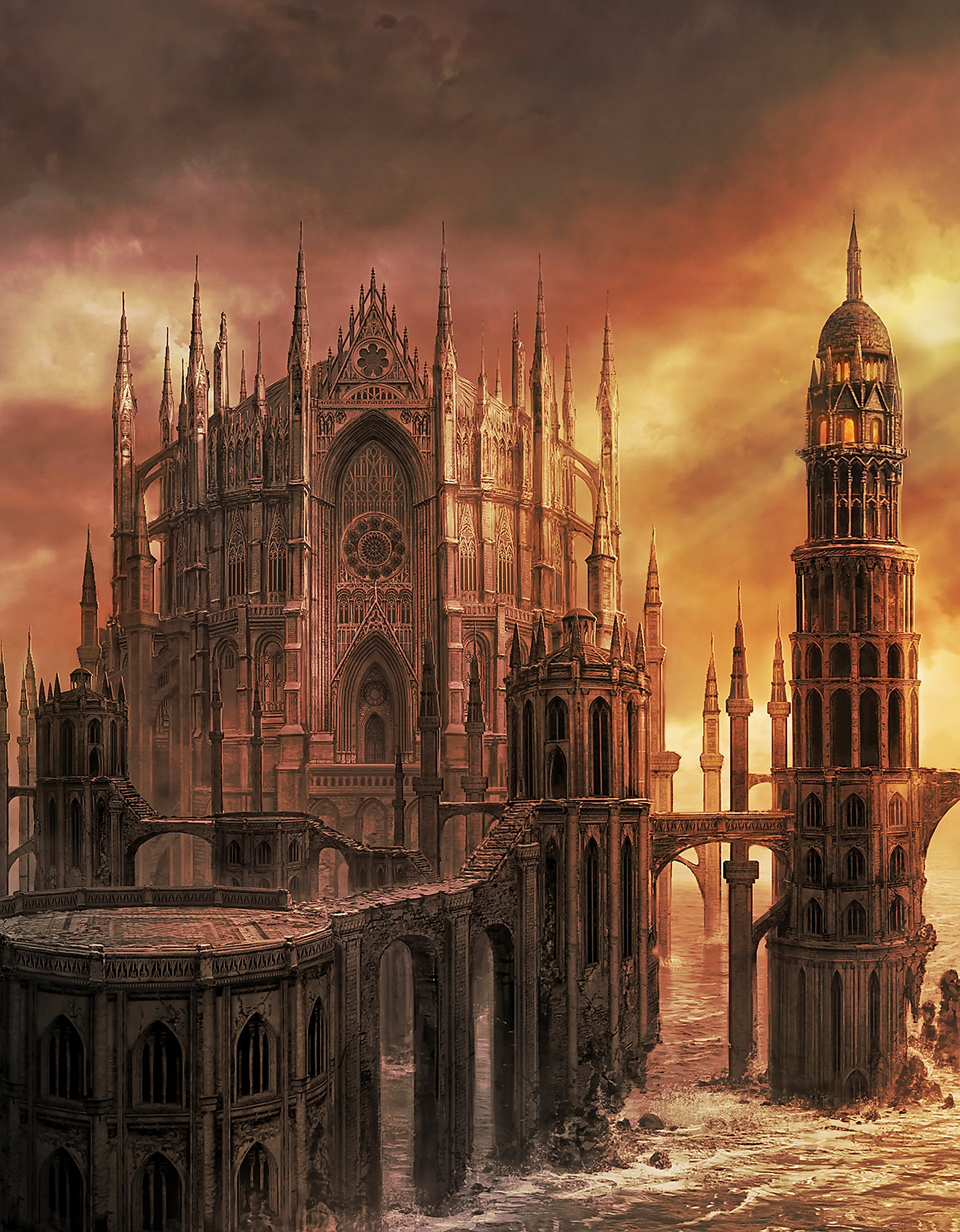 Artwork Heide S Tower Of Flame Dark Souls Ii Fromsoftware Cook And Becker