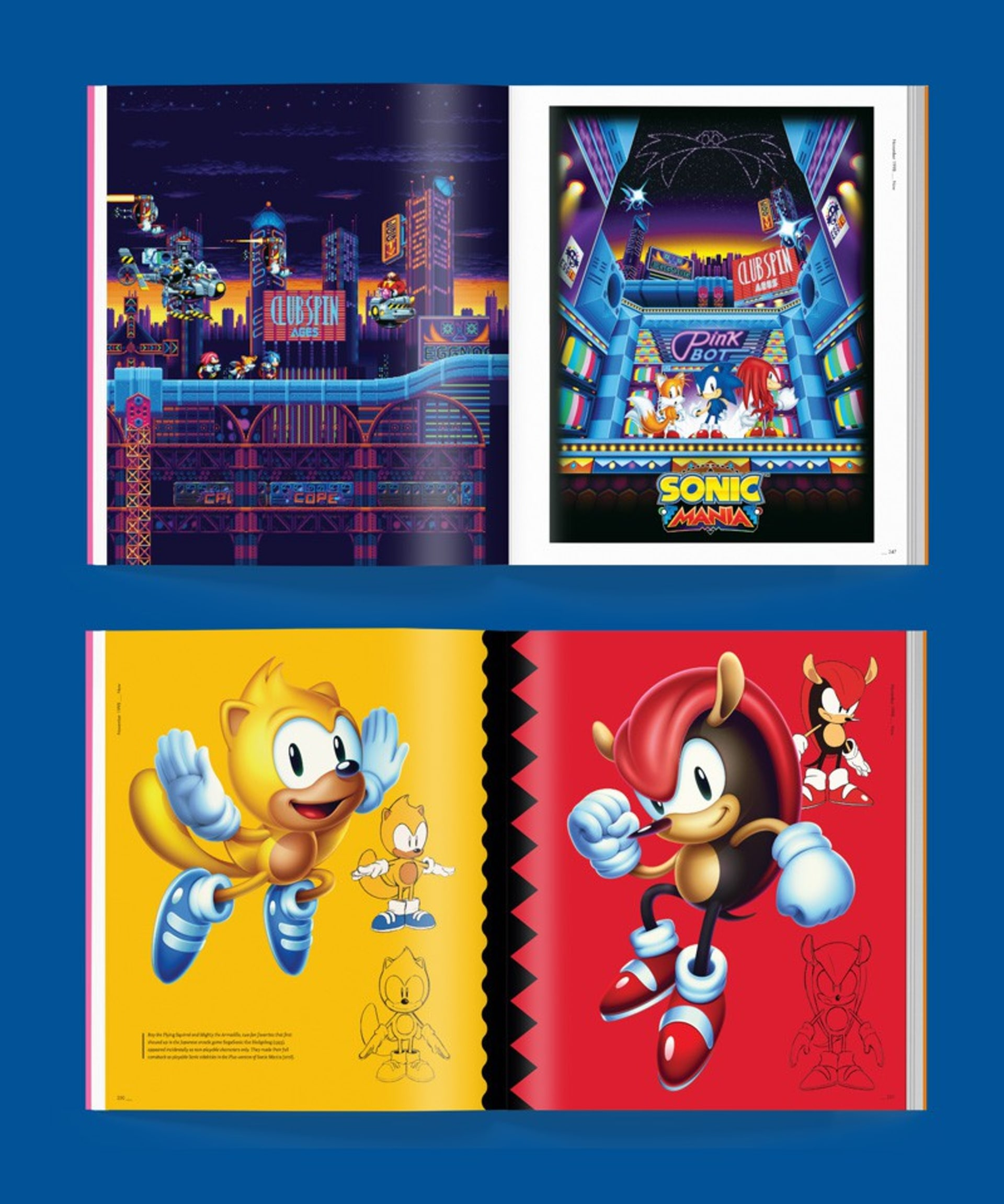Sonic Mania Pixel Art, Mighty and R