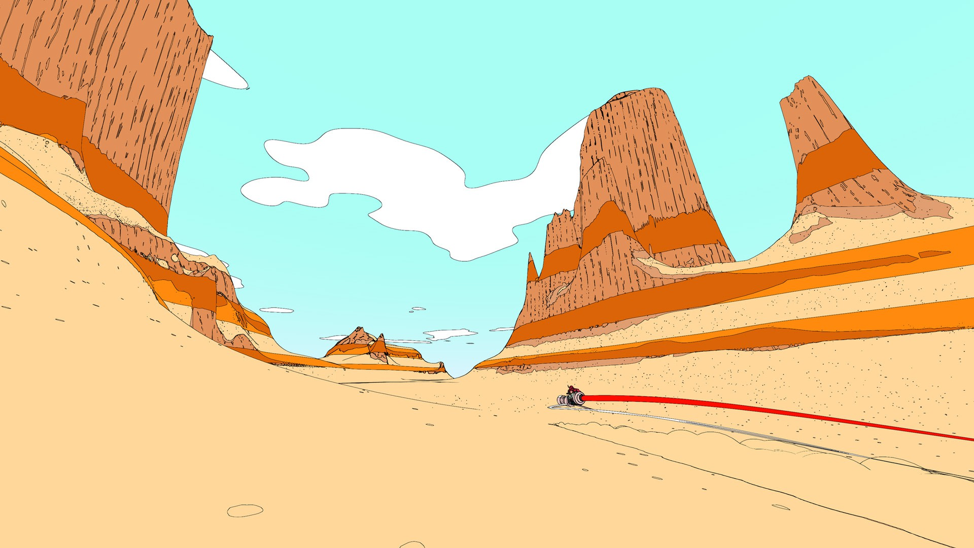 Racing across the desert, Sable