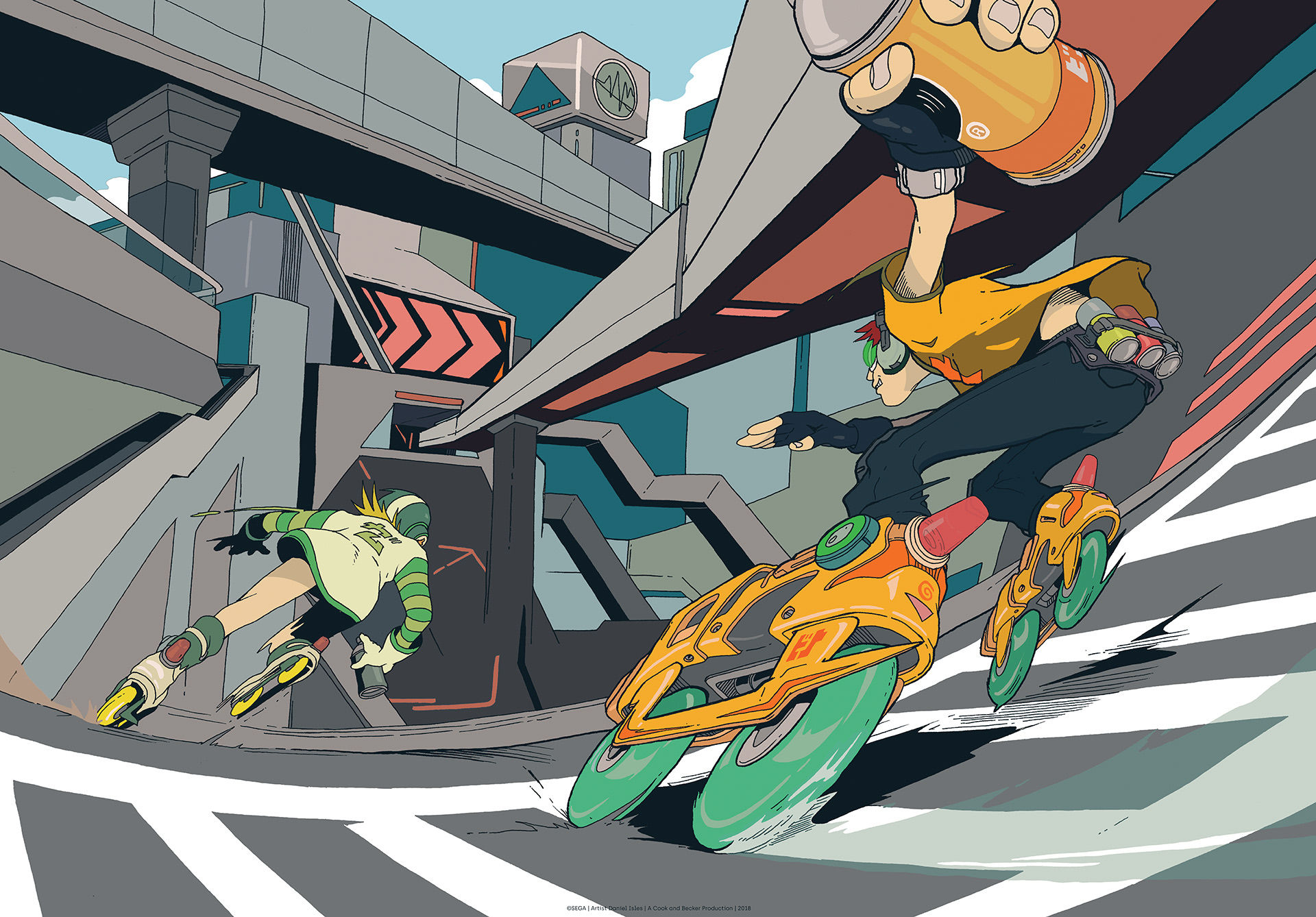 Jet Set Radio (2018) by 'DirtyRobot' Q&A
