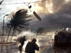 Storm  at the airfield, EA ©