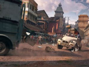 Antananarivo Car Chase - Uncharted 4, Naughty Dog ©