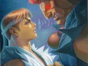 Ryu vs Akuma, Capcom ©