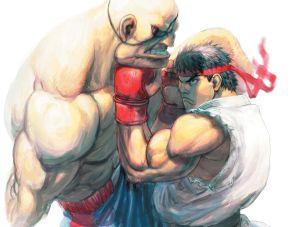 Ryu vs Sagat, Capcom ©