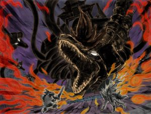 Susano and Amaterasu fight Orochi - Okami,  ©