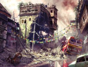 Warzone Street Scene - Uncharted 2, Naughty Dog ©