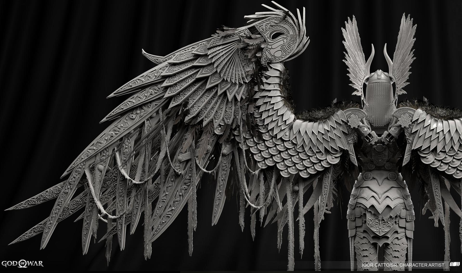 God of War – Valkyrie Wings Design