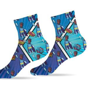 גרביים דגם גיבורי על אייסמן