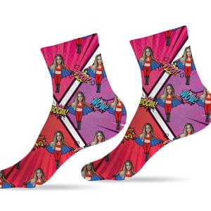 גרביים דגם גיבורי על וונדרוומאן